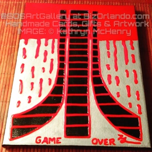 GAME OVER: Kathryn McHenry @SOSArtGallery ($125 For Sale in the Gamerz Only Gallery Show)